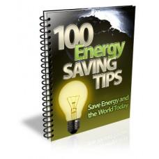 100 Energy Saving Tips